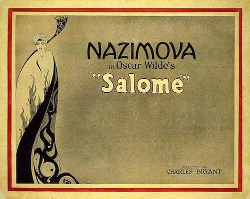 "Lobby card for Alla Nazimova in Oscar Wilde's ""Salome"""