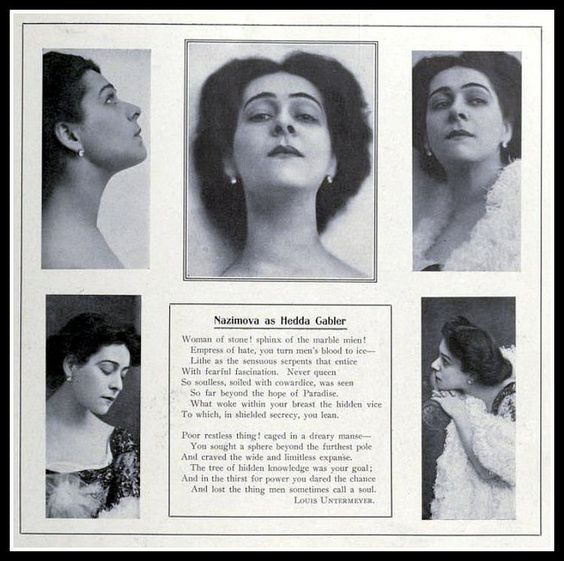 "1907: Alla Nazimova as ""Hedda Gabler"" article"