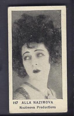 1922 - Alla Nazimova - Strollers Cigarettes card #197