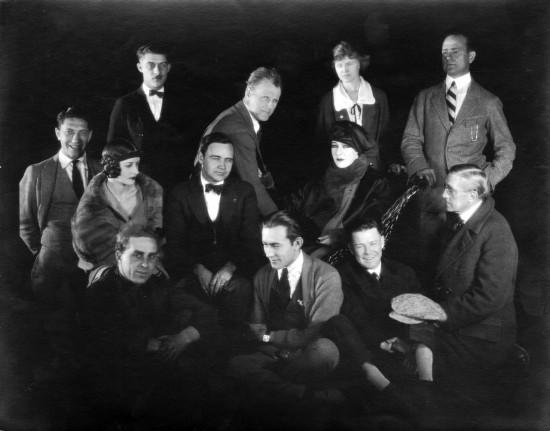"""1923 - Cast and crew members for Alla Nazimova's """"Salome"""""""