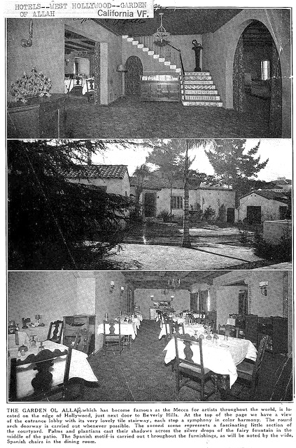 1927 Garden of Allah Hotel article