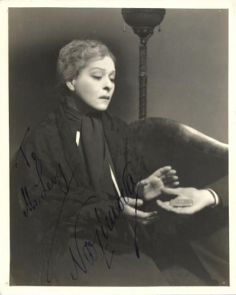 1930s signed portrait of Alla Nazimova, Vandamm Studio
