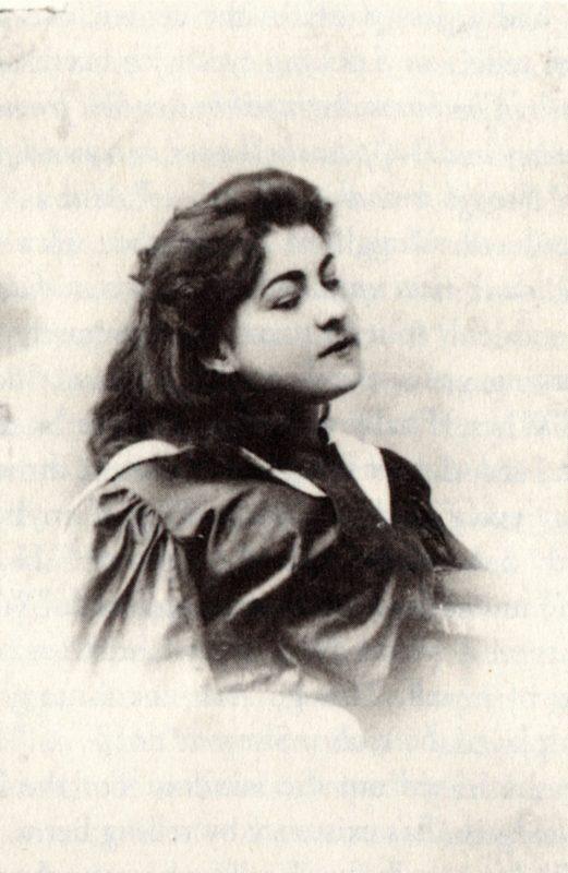 1894: Alla Nazimova, aged 15, at boarding school in Odessa, Russia