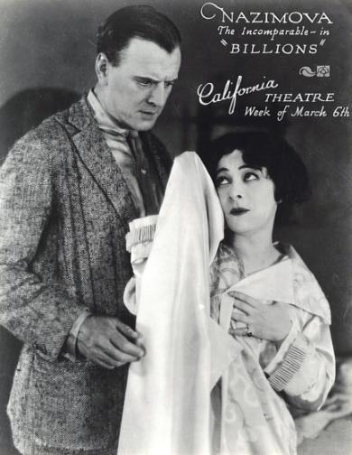 """1920 - Alla Nazimova & Charles Bryant in """"Billions"""""""