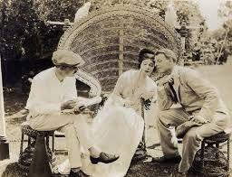 Alla Nazimova & Charles Bryant with Director, Herbert Blache