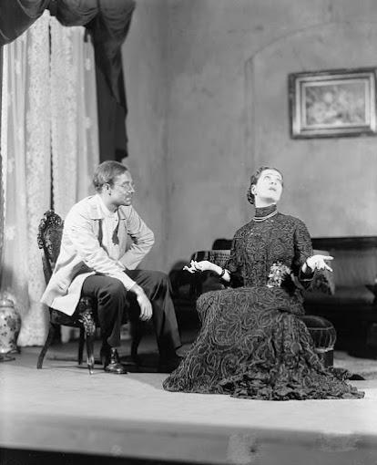 """1928:  Alla Nazimova (Madame Ranevsky) in """"The Cherry Orchard."""""""