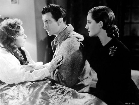 "1940: Alla Nazimova, Robert Taylor, and Norma Shearer in ""Escape"""