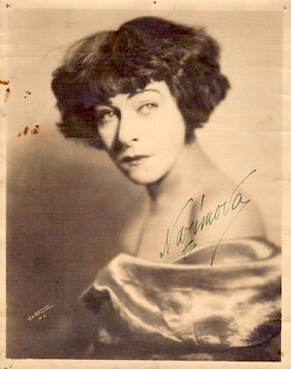 Alla Nazimova Signed Photograph 1930s