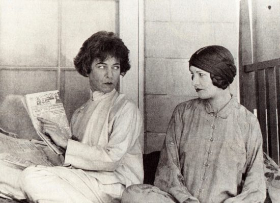 Alla Nazimova and Natacha Rambova at the Garden of Alla, Circa early 1920s