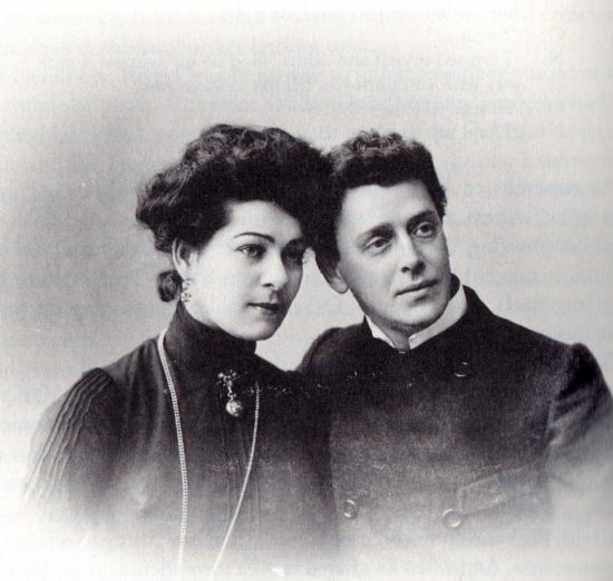 Alla Nazimova and Paul Orlenev, 1901