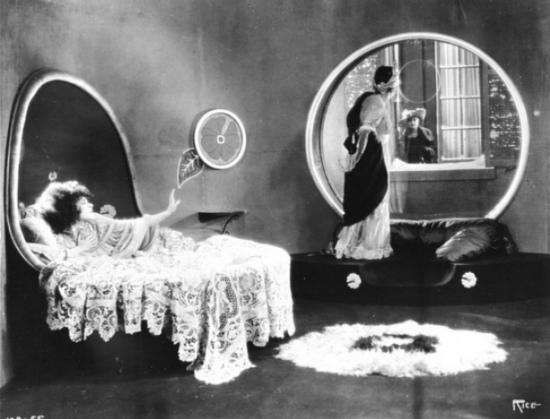 """Alla Nazimova and Rudolph Valentino in """"Camille"""" (1921)"""