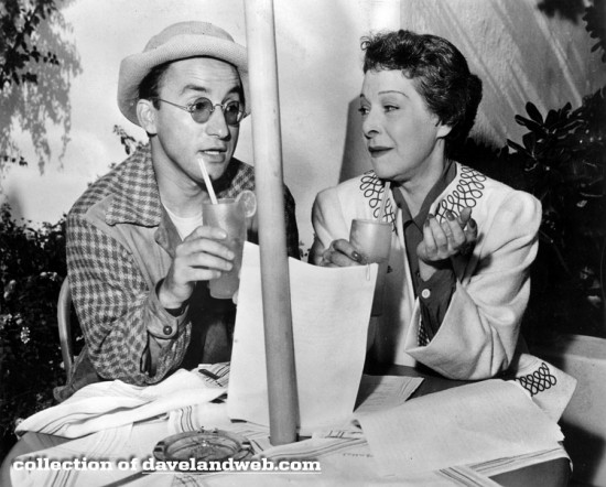 "Alla Nazimova and writer Arch Oboler conferring on the radio script for ""This Lonely Heart"" (1940)"
