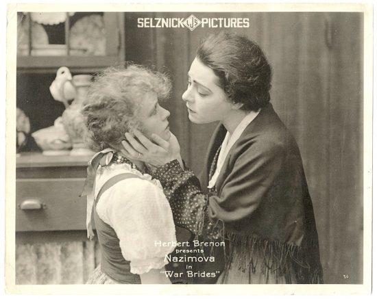 """Alla Nazimova as Joan in """"War Brides"""" (1916)"""
