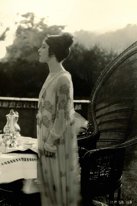 Alla Nazimova at table