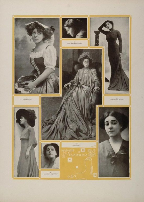 Alla Nazimova collage