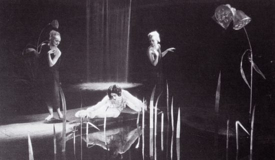 "Alla Nazimova gazes into a pond during a dream sequence in ""Billions"" (1920)"