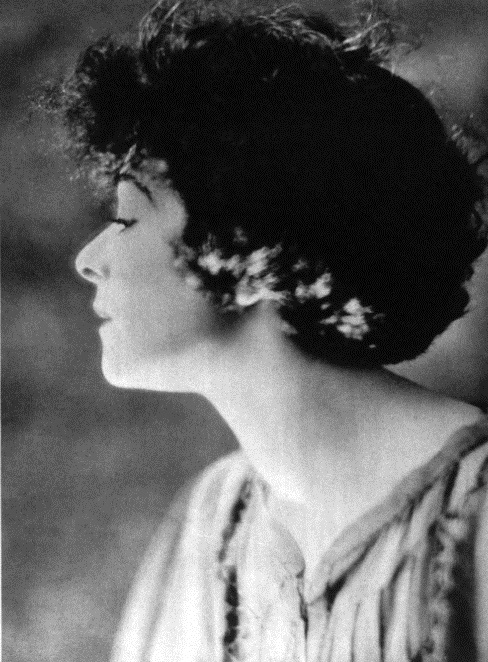 1920: Alla Nazimova in profile portrait
