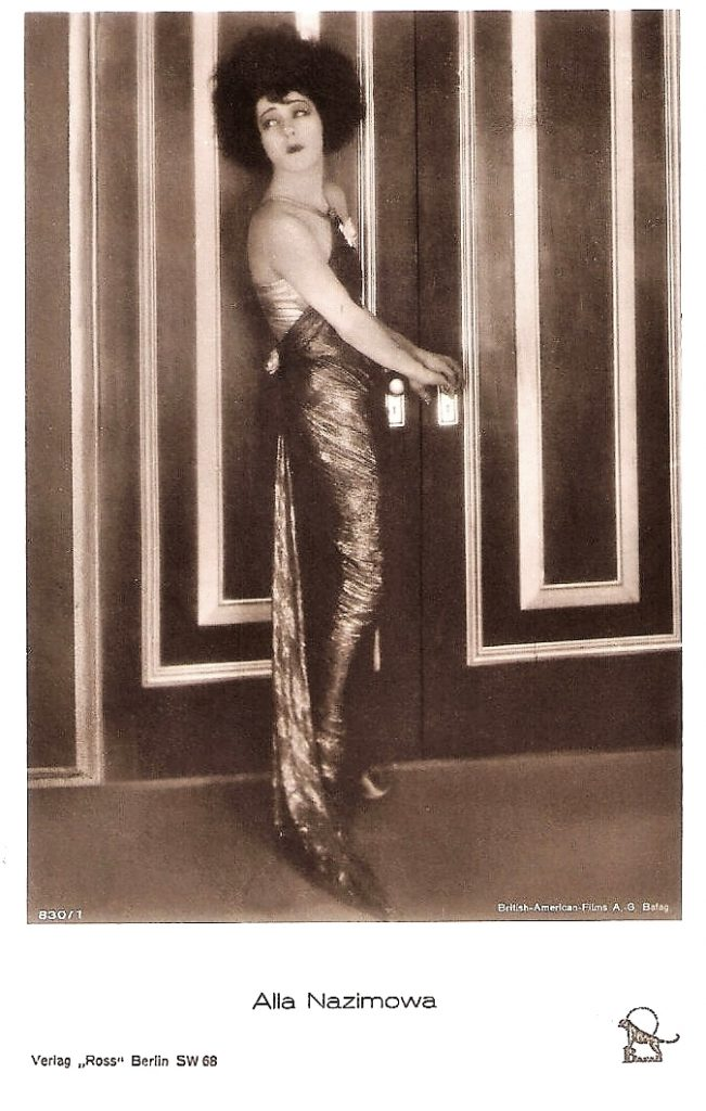 Alla Nazimova in Camille (1921) German postcard by Ross Verlag