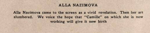 Alla Nazimova in Motion Picture Magazine, June 1921