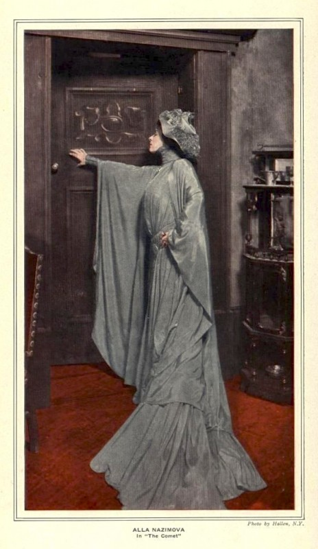 "Alla Nazimova in ""The Comet"" (1908)"
