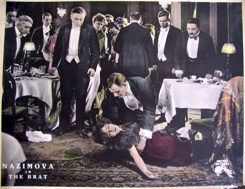 "1919: Alla Nazimova in ""The Brat"" - colored movie theater lobby card"