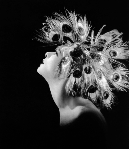 "Alla Nazimova in a peacock headdress ""Madame Peacock"" (1920)"