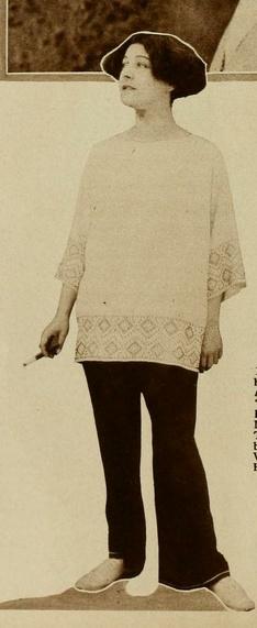 Alla Nazimova in dark pants