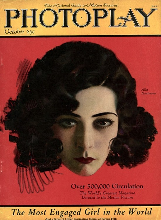 Alla Nazimova on the cover of Photoplay magazine