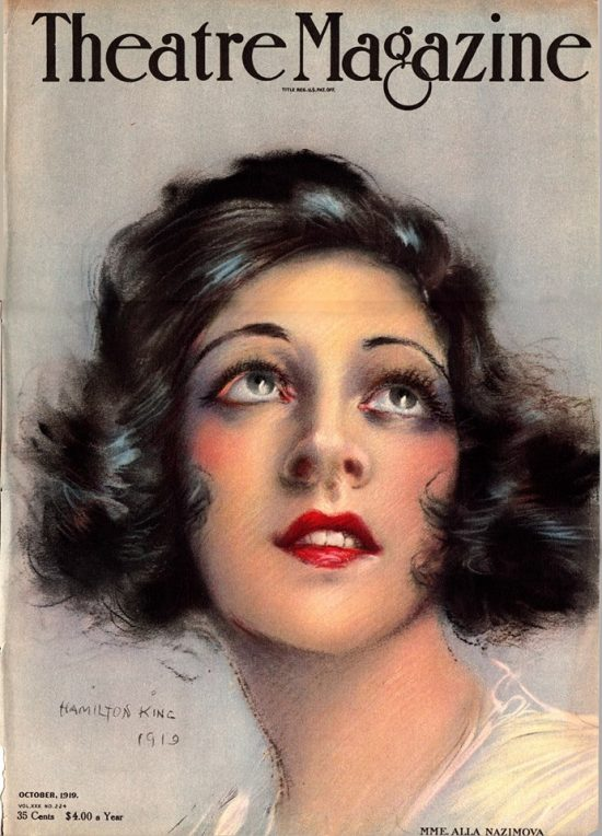 1919: Alla Nazimova on the cover of Theatre Magazine, October 1919