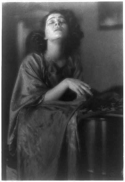 Alla Nazimova photographed by Clarence H White 1919