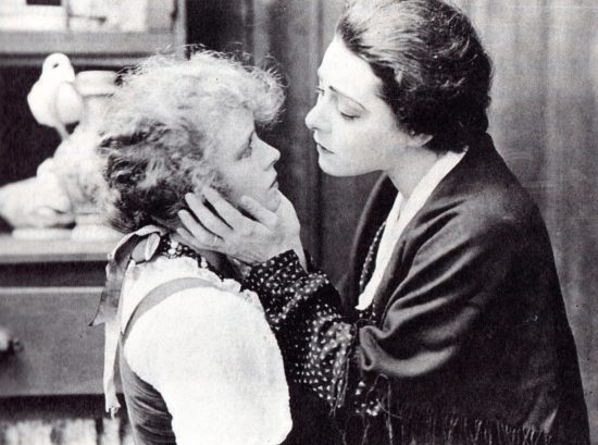 "Alla Nazimova with Nila Mae in the 1916 film of ""War Brides"""