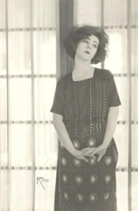 1920s: Alla Nazimova at window