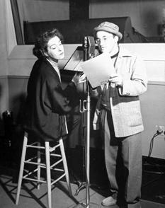 Undated: Arch Oboler and Alla Nazimova appearing on NBC radio