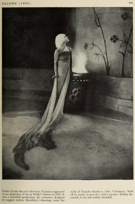 "1923: Article on Alla Nazimova in ""Salome"""