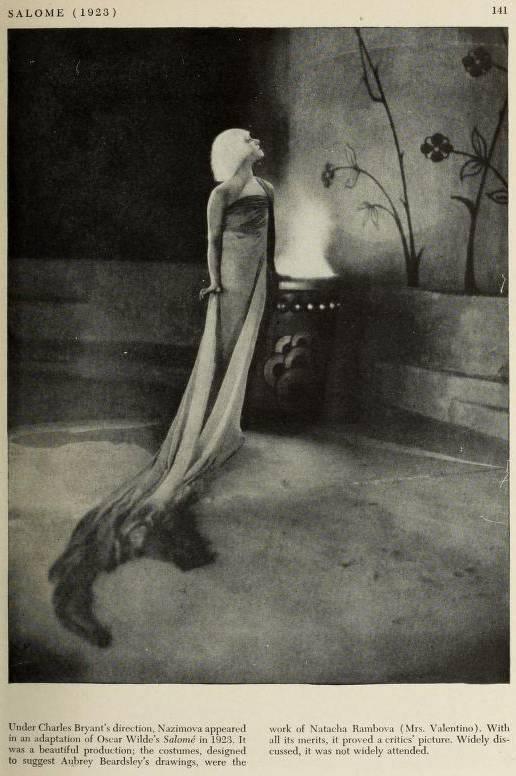 """1923: Newspaper article on Alla Nazimova in """"Salome"""""""