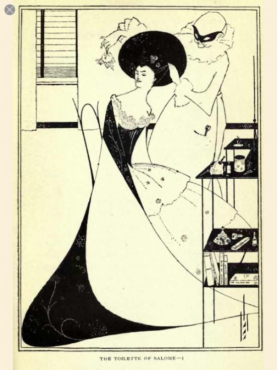"Aubrey Beardsley illustration for Oscar Wilde's play, ""Salome"""