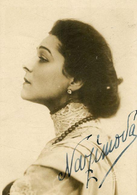 Autographed profile portrait of Alla Nazimova (undated)