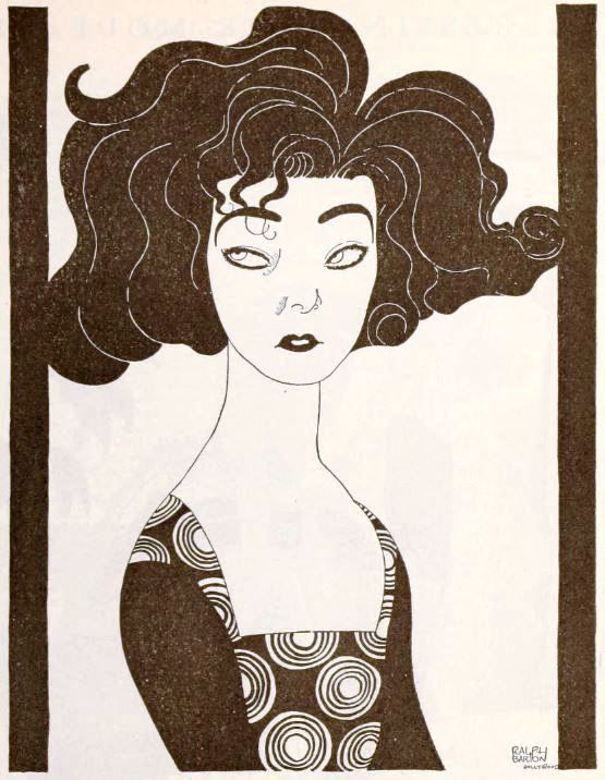 Caricature of Alla Nazimova by Ralph Barton