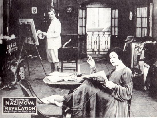 "Charles Bryant and Alla Nazimova in her first film for Metro, ""Revelation"" (1918)"