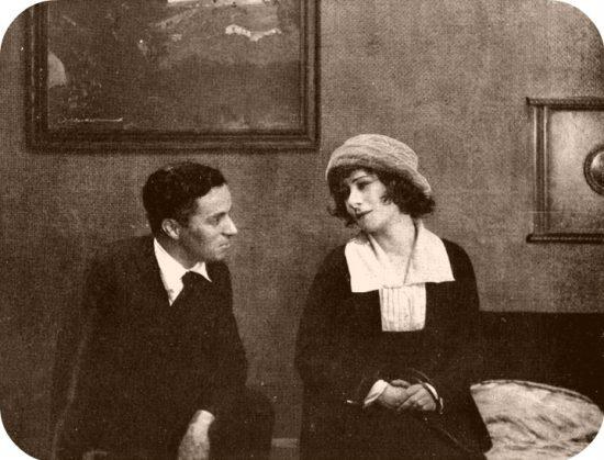 """1919: Charlie Chaplin visits the set of Alla Nazimova's film """"The Brat"""""""