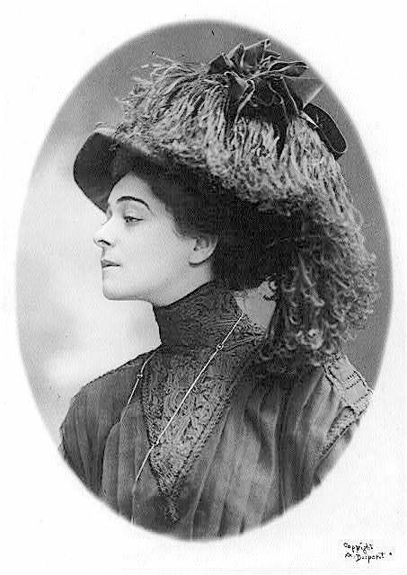 April 9, 1908: Dupont portrait of Alla Nazimova