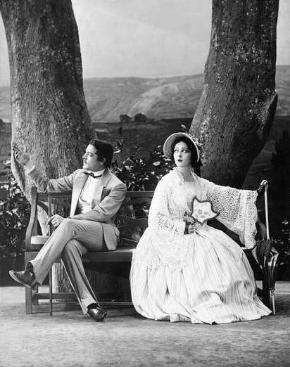"""1930: Elliot Cabot and Alla Nazimova in the Theatre Guild production of """"A Month in the Country"""""""