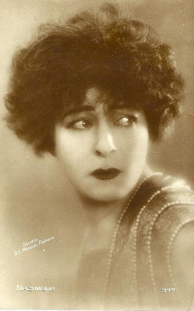Portrait of Alla Nazimova taken at the  G.L. Manuel Freres Photo Studio