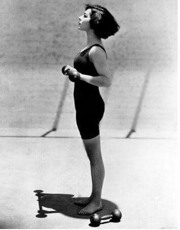 Keeping fit with Alla Nazimova