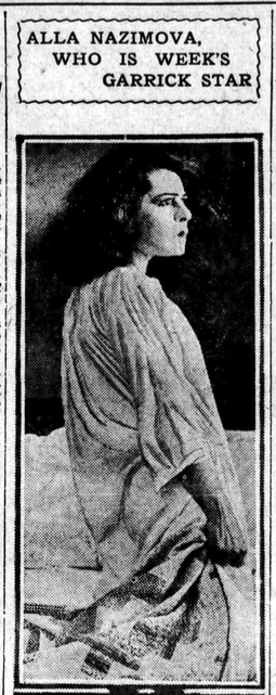 Los Angeles Evening Herald newspaper article about Alla Nazimova, July 29, 1919