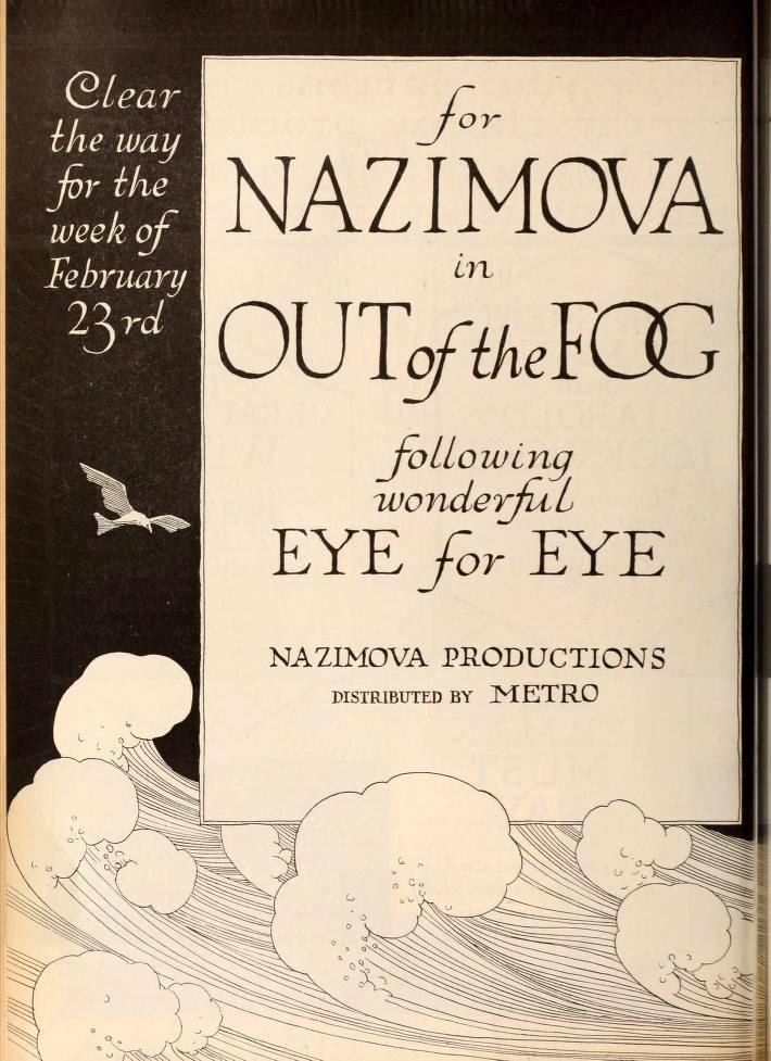 "1919: Nazimova in ""Eye for Eye"" - Motion Picture News, January - February 1919"