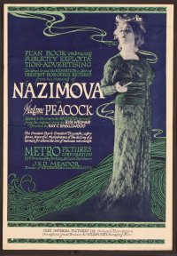 "1920: ""Madame Peacock"" poster, starring Alla Nazimova"
