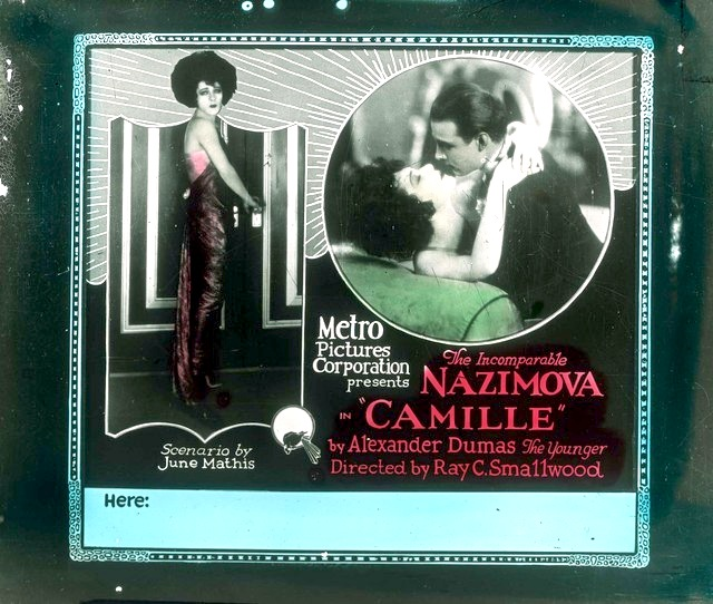 Nazimova and Valentino in camille lobby card