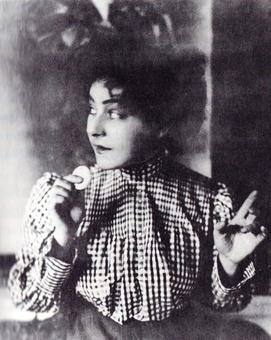 "Nazimova as Regina in ""Ghosts"" during the ""Orlenev's Lyceum"" season of 1905-06"