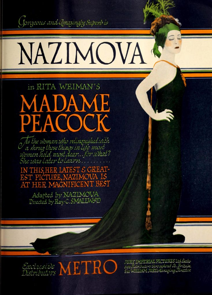 "Nazimova in ""Madame Peacock"" - Moving Picture World magazine, October 1920"
